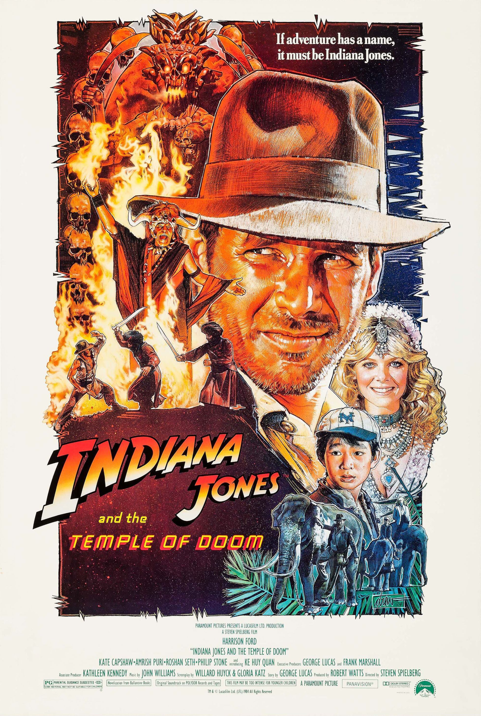 Mega Sized Movie Poster Image For Indiana Jones And The Temple Of Doom 3 Of 11 Doom Movie Indiana Jones Movie Posters