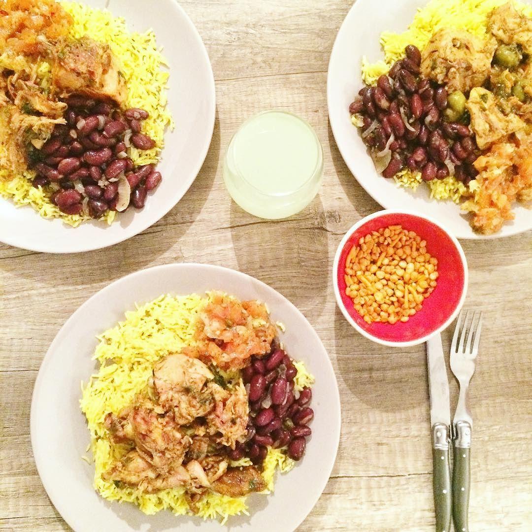 Ce soir on mange en famille un repas #974 aux saveurs créoles  Bon weekend à tous! ->> snapchat  pompom_fashion by pompompidou_blog