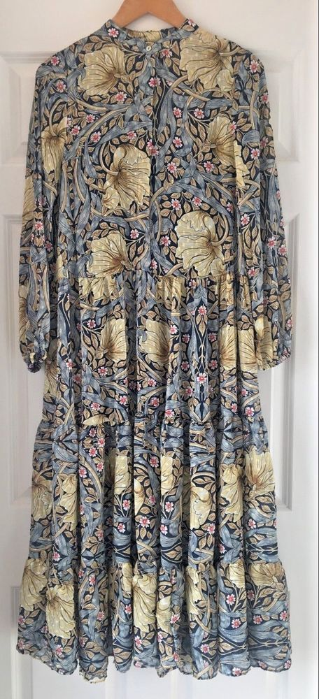 493acbee5d7a WILLIAM MORRIS & CO X H&M FLORAL PATTERNED MAXI DRESS BLUE MULTI UK SIZE 12  BNWT #fashion #clothing #shoes #accessories #womensclothing #dresses (ebay  link)