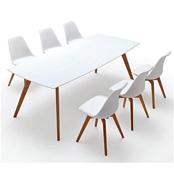 Salontafel Zweeds Design.2180 001 Bess Table Tafel Wit White Eik Oak Zweeds Design Tenzo