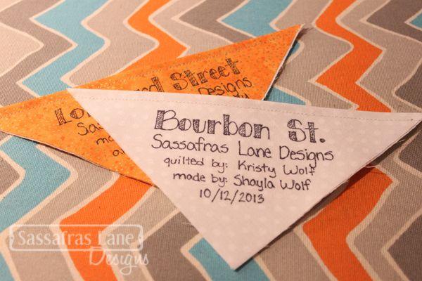 Sewology Sunday - Easy Quilt Label – Sassafras Lane Designs ... : examples of quilt labels - Adamdwight.com