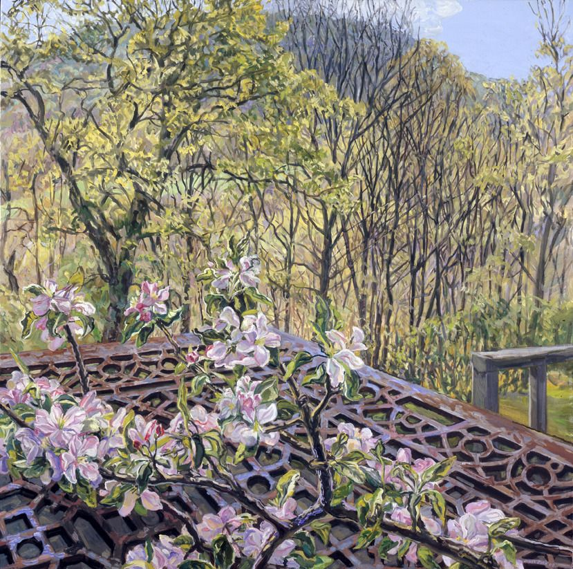 Apple Blossoms/Spring Trees   From a unique collection of landscape paintings at http://www.1stdibs.com/art/paintings/landscape-paintings/