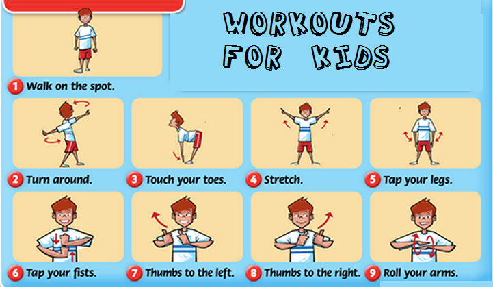 kids workout exercises kids weight loss ideas - Exercise Pictures For Kids