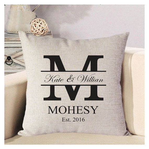 Initial Pillow Covers Personalized Wedding Pillow Cover Monogram Pillowbabapanda