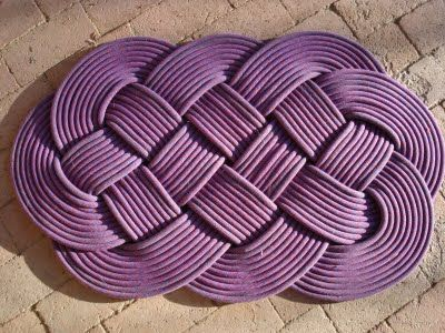 Good Recycle Your Old Ropes Or Cord Into Nautical Rugs With An Ocean Plait