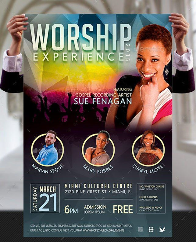 Worship Concert Poster Templates  Photoshop Sinage And Banner