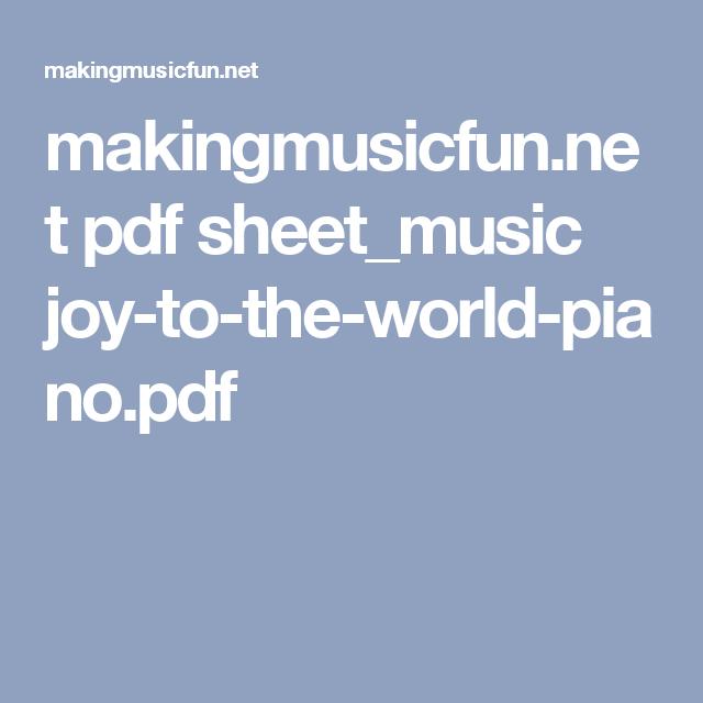 makingmusicfun.net pdf sheet_music joy-to-the-world-piano.pdf