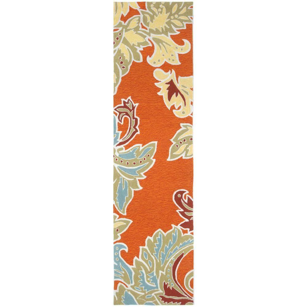 Fabulous Trans Ocean Import Co Sinclair Botanical Bdr Orange 2 Ft X Download Free Architecture Designs Ferenbritishbridgeorg