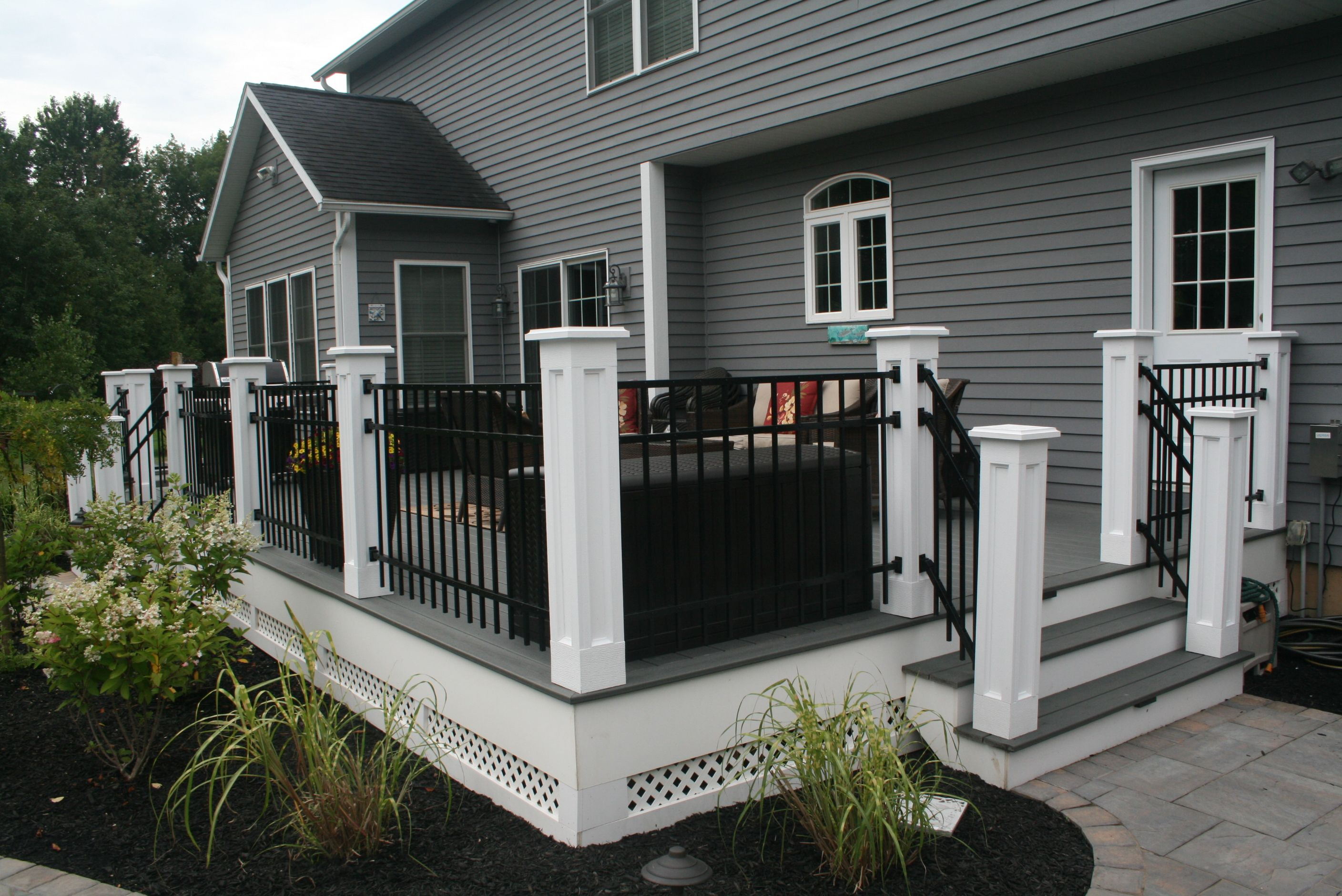 Best Re Purpose Deck Railing Into Ornamental Fencing Black And 400 x 300