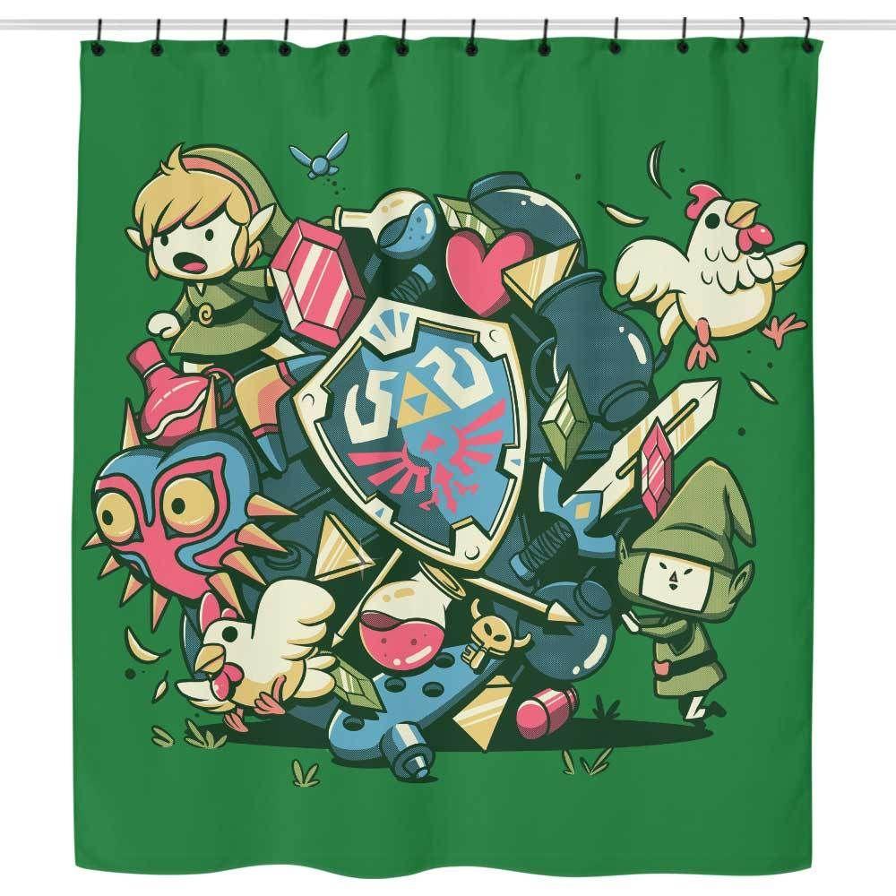 Let S Roll Link Shower Curtain With Images Legend Of Zelda