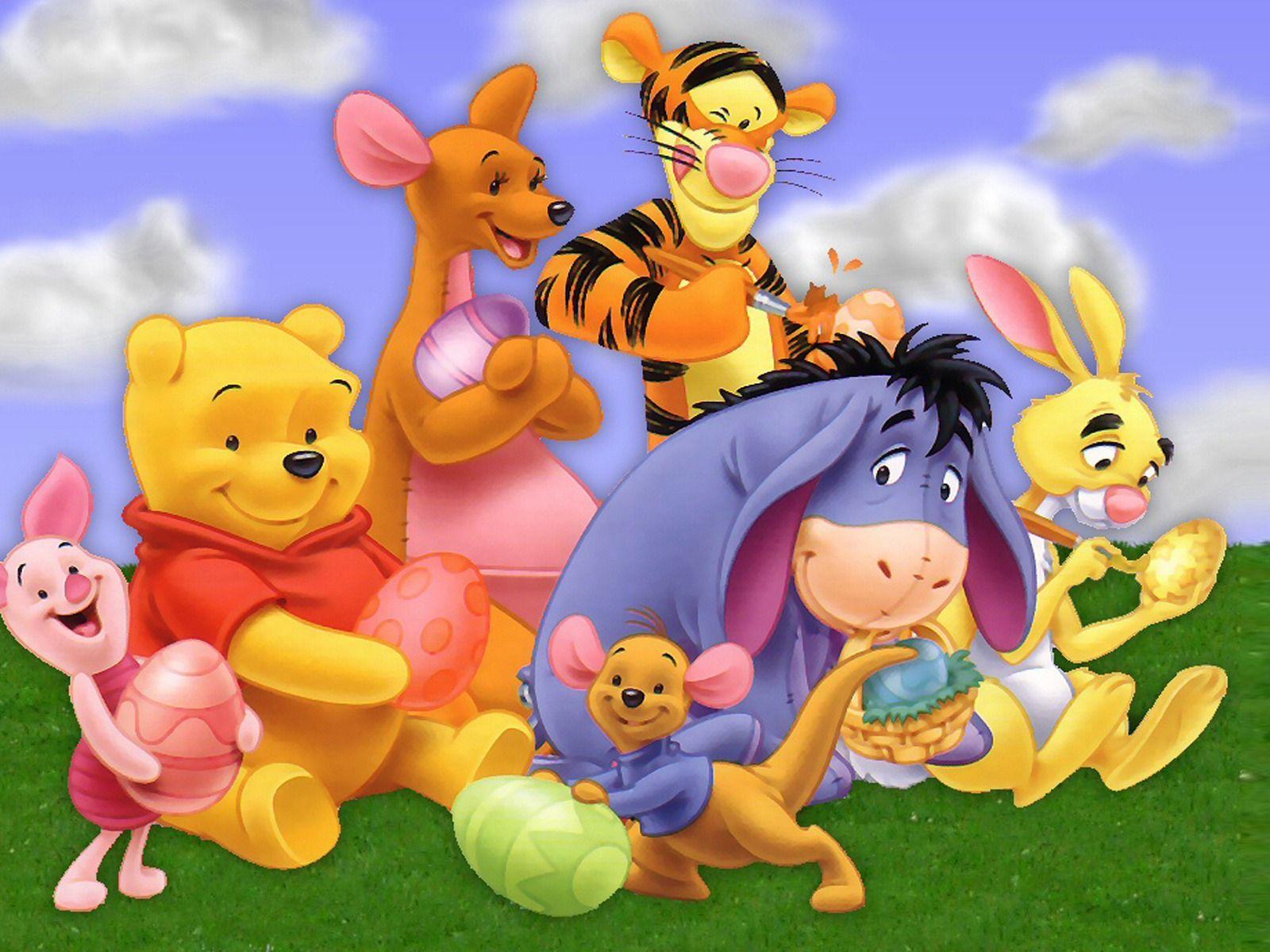 Winnie The Pooh Cartoon Character Hd Desktop Wallpaper Second