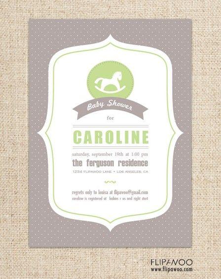 Baby Shower Rocking Horse Invitation Design By Flipawoo Customized