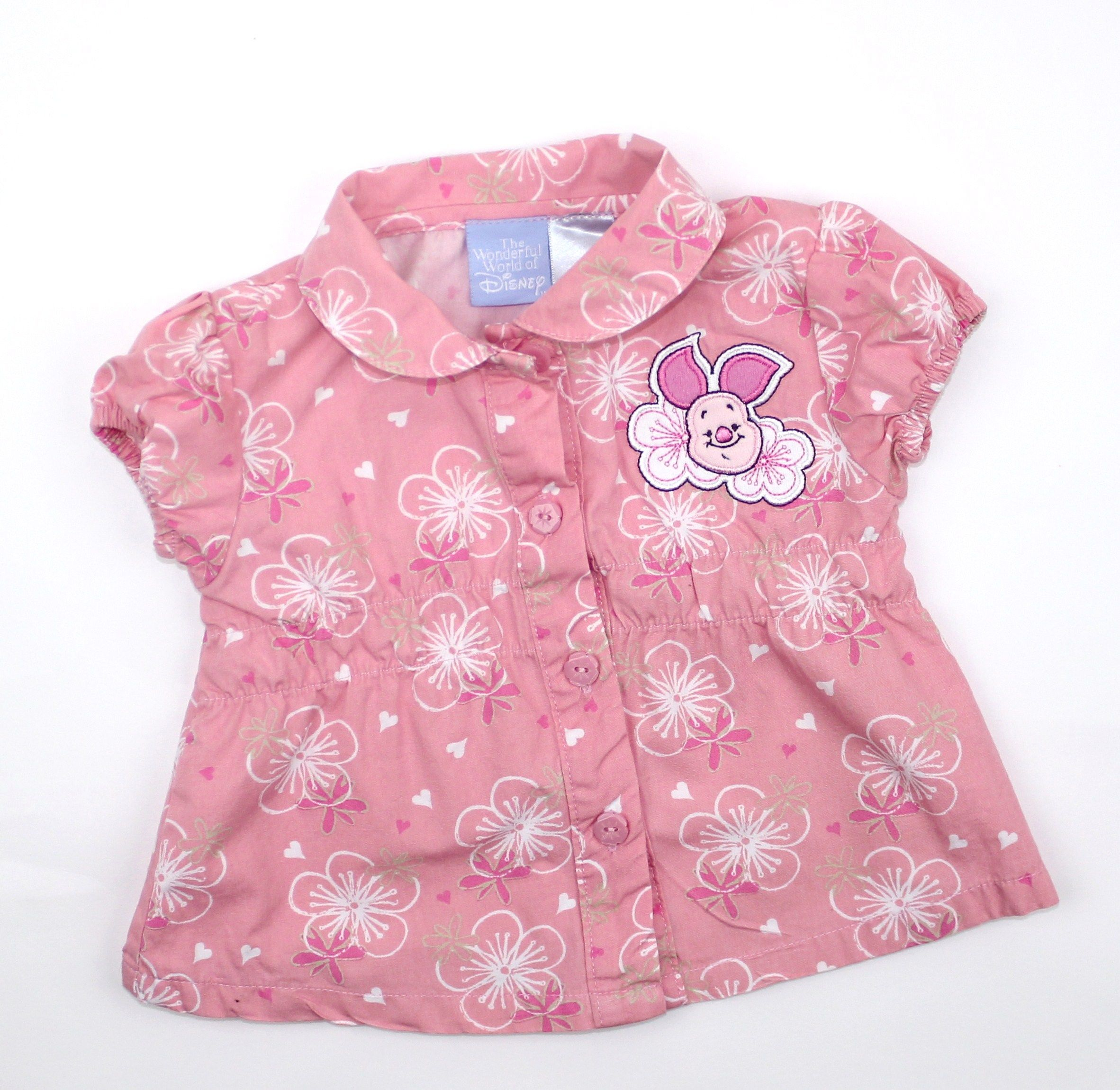 Baby Girl Pink Blouse with Piglet in Size 3 Months and ...