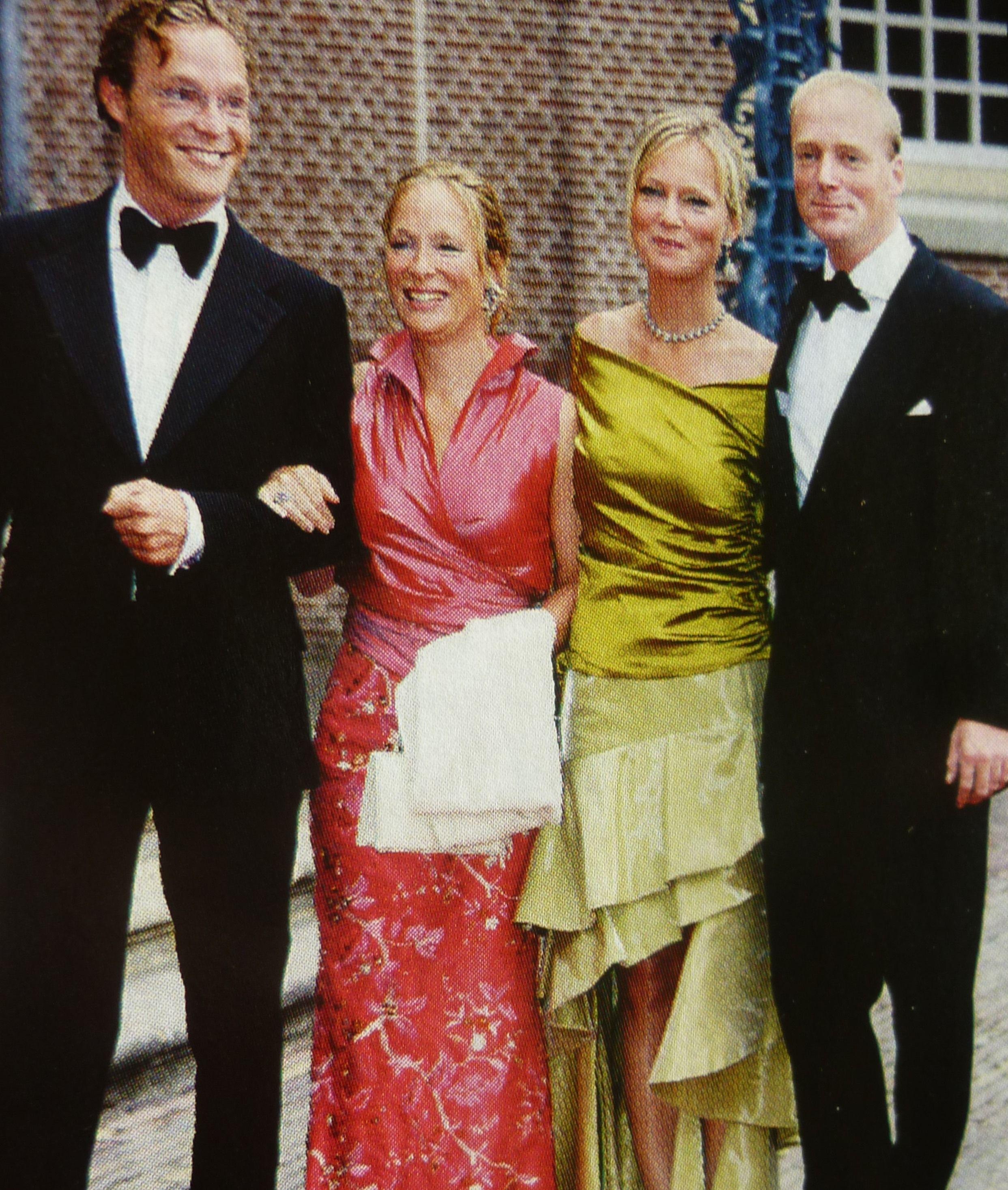 willem alexander 40 jaar Jaime, Margeritha, Carolina en Carlos Bourbon de Parme bij het  willem alexander 40 jaar