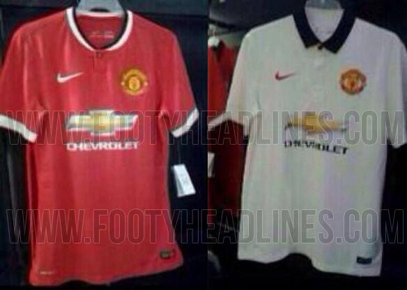 MANCHESTER UNITED 14-15 HOME AND AWAY KITS LEAKED