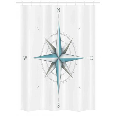 Photo of East Urban Home Compass Stall Shower Curtain Single + Hooks …