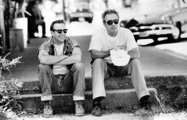 Kevin Costner and Clint Eastwood in A Perfect World (1993)
