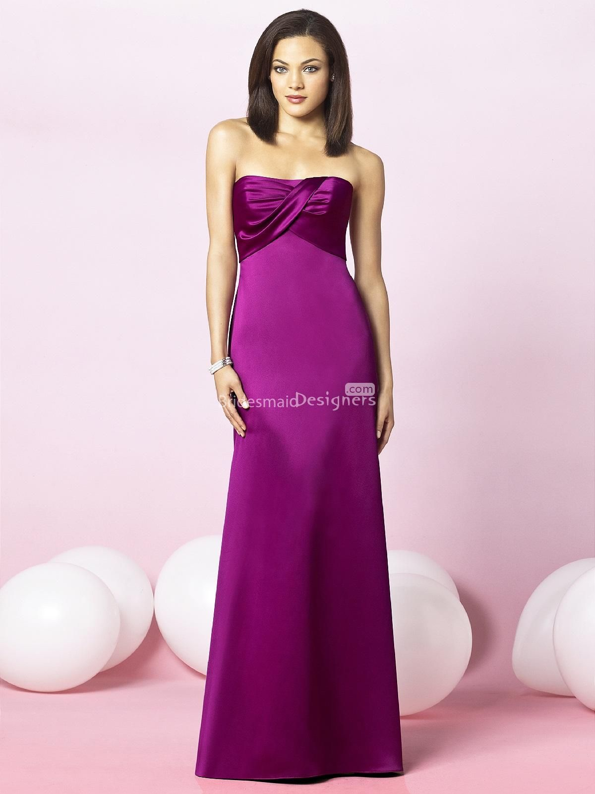 Modern wedding dresses for young: Red violet bridesmaid dresses