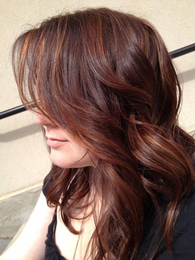 Auborun Highlights Auburn With Highlights Hair Pinterest
