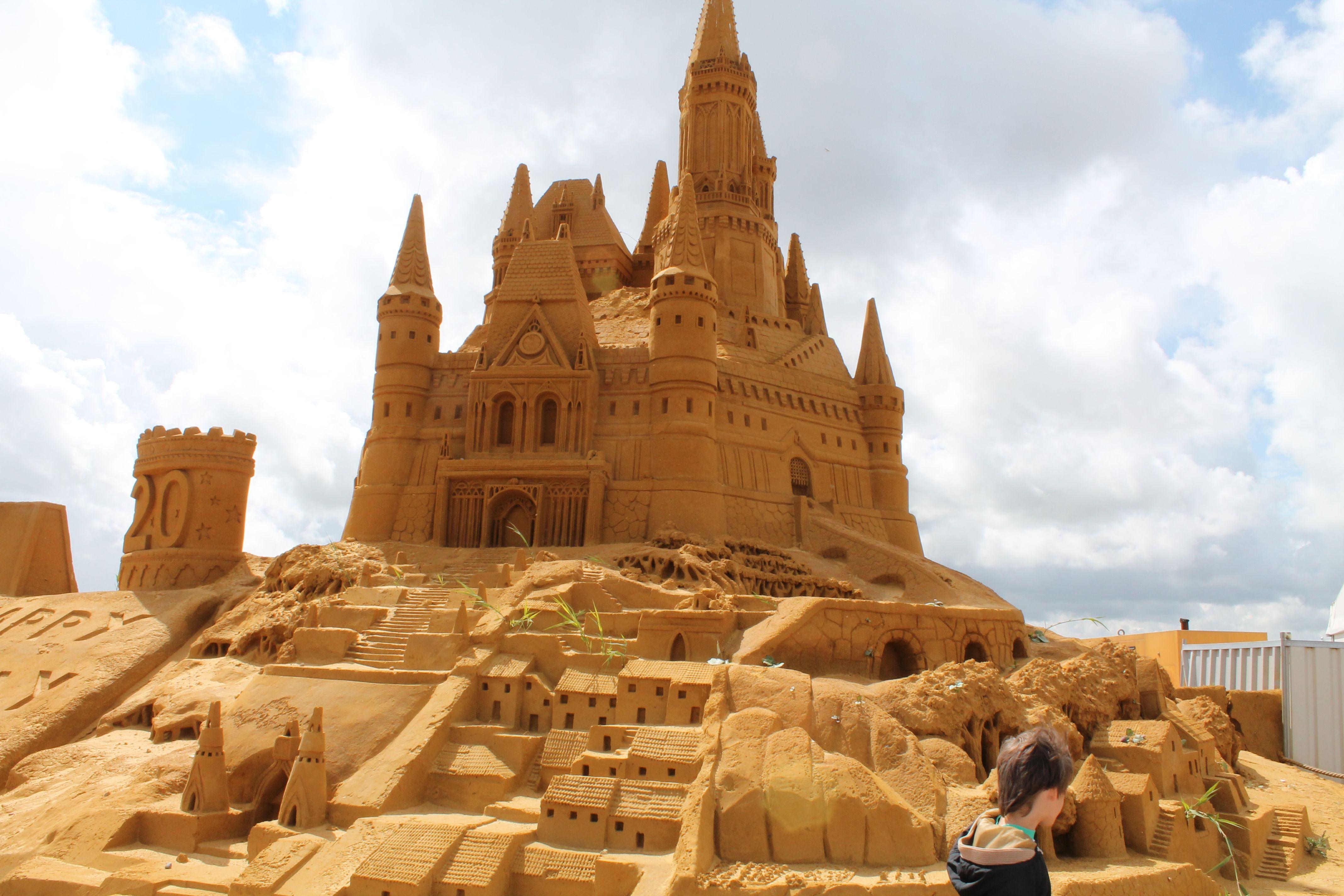 Sand sculptures festival in Belgium