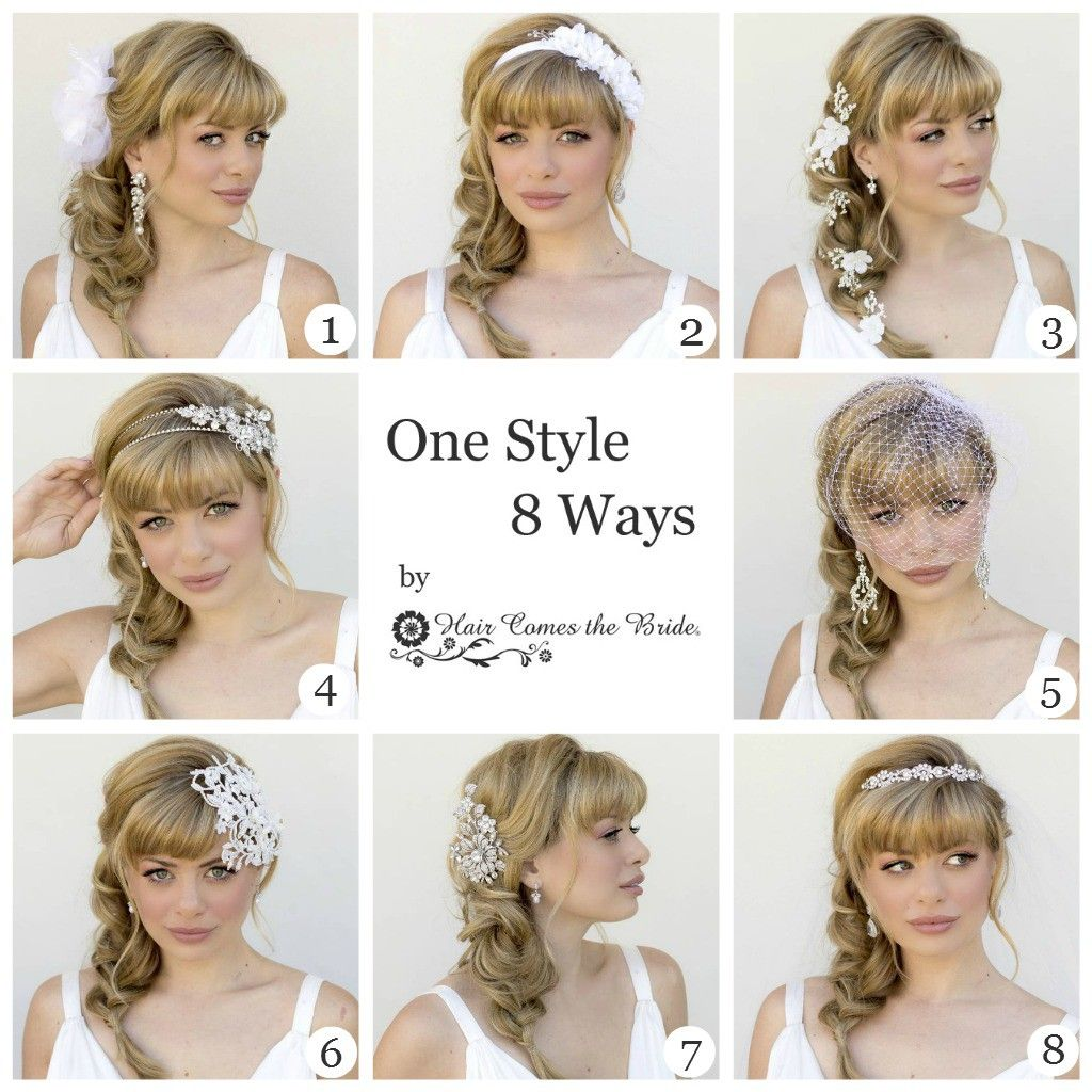 One Style ~ 8 Ways...Messy Side Braid with Bangs | Bridal braids and ...