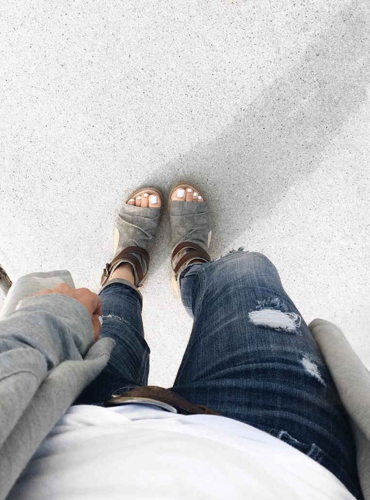 f2353b337437 Casual style cutout sandal Balla by Blowfish Shoes photo by Courtney s Fit  Life