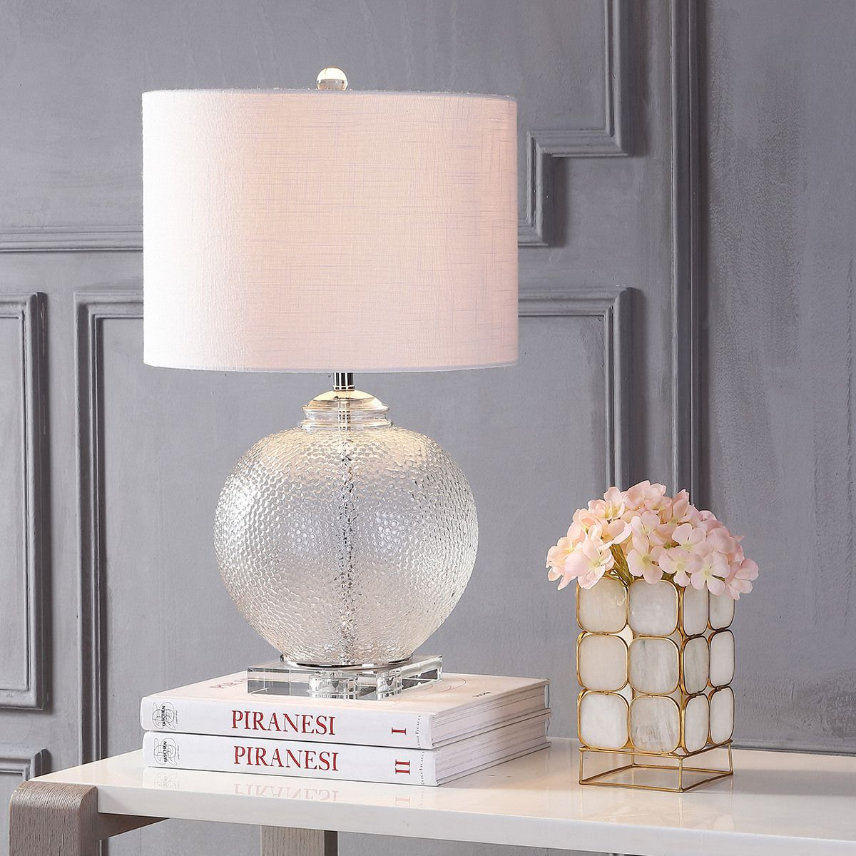 Zoe 24 Glass Crystal Led Table Lamp Clear Eyely Led Table Lamp Table Lamp Crystal Table Lamps