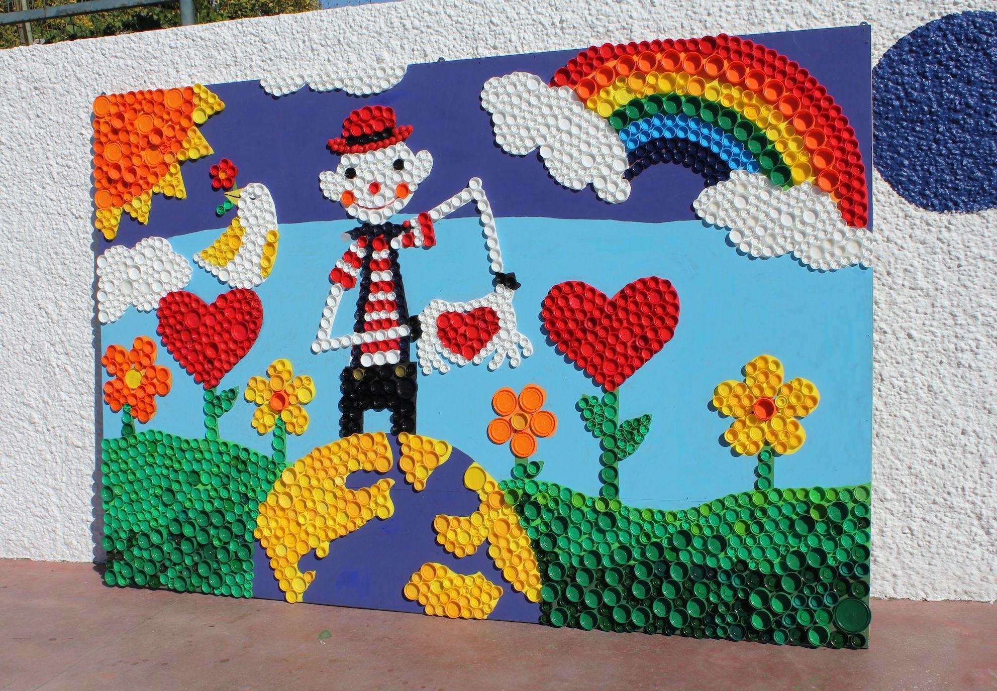 Mural infantil con reciclaje buscar con google for Murales para ninos