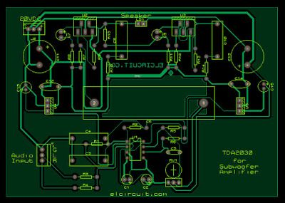 tda2030 make for subwoofer amplifier circuit pcb s layout design rh pinterest com Circuit Diagram Symbols Circuit Board Schematics