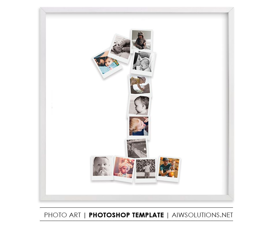 Number 1 Photo Collage Template Psd Collage Template Photo Collage Template Photo Collage
