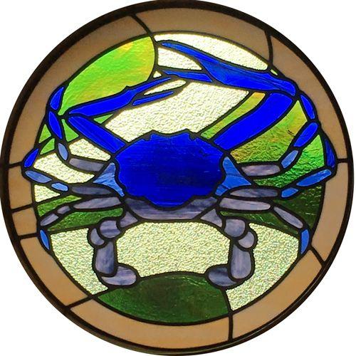 Blue Swimmer Crab Leadlight By Adelaide Leadlight Haida Art Art Glass Art