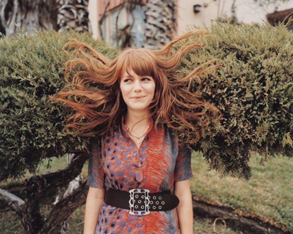 This may be the most adorable picture of Jenny Lewis to date.