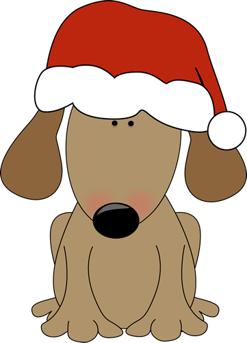 dog wearing a santa hat christmas clip art pinterest dog wear rh pinterest com Dogs at Christmas Glasses Funny Christmas Clip Art