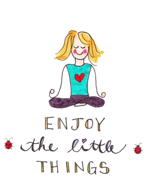 Yoga Card Enjoy The Little Things Card Greeting Card Blank