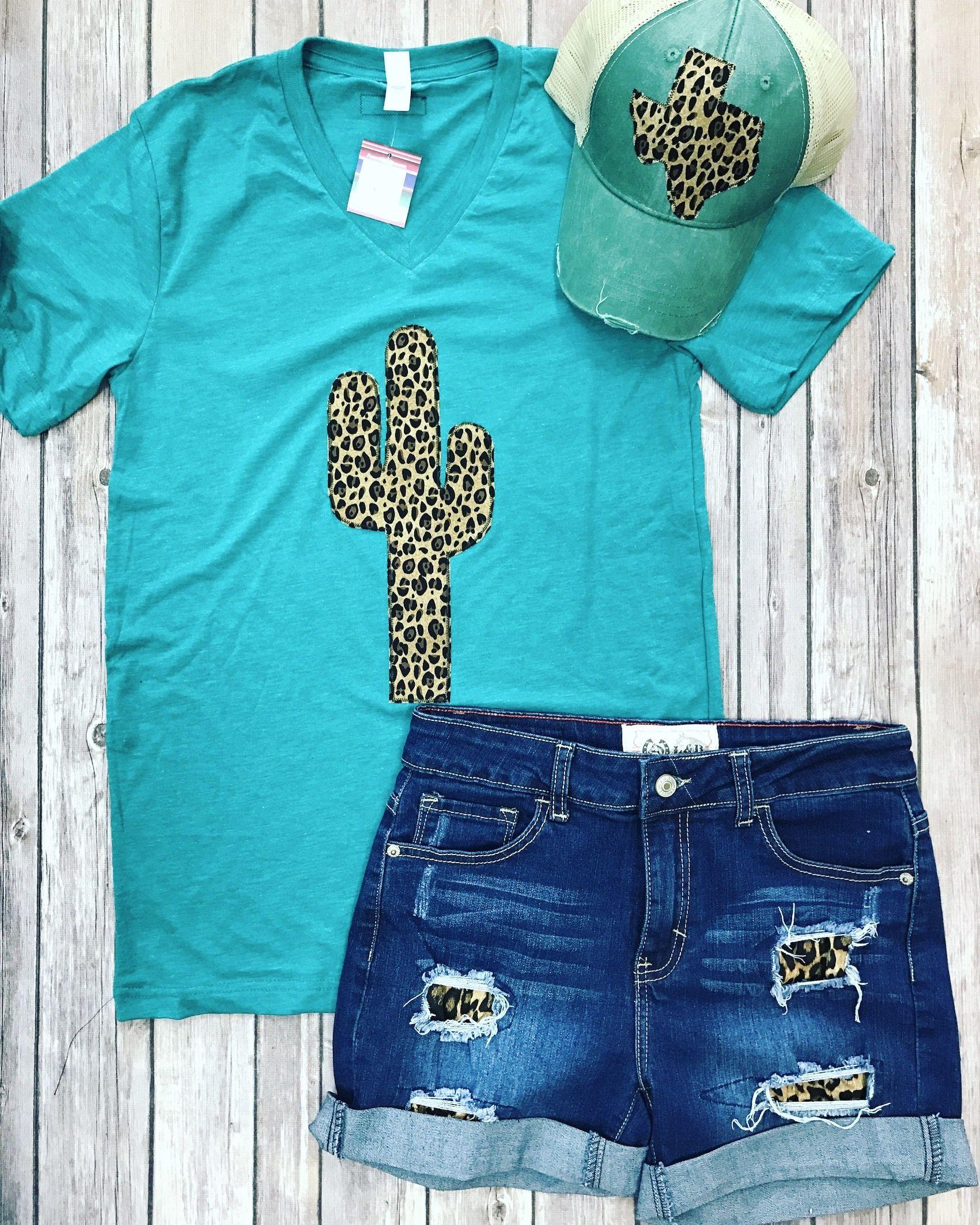 def8aafc Leopard Print Cactus tee by Sweettexastreasures Cheetah Print Shirts, Cheetah  Print Outfits, Leopard Shirt