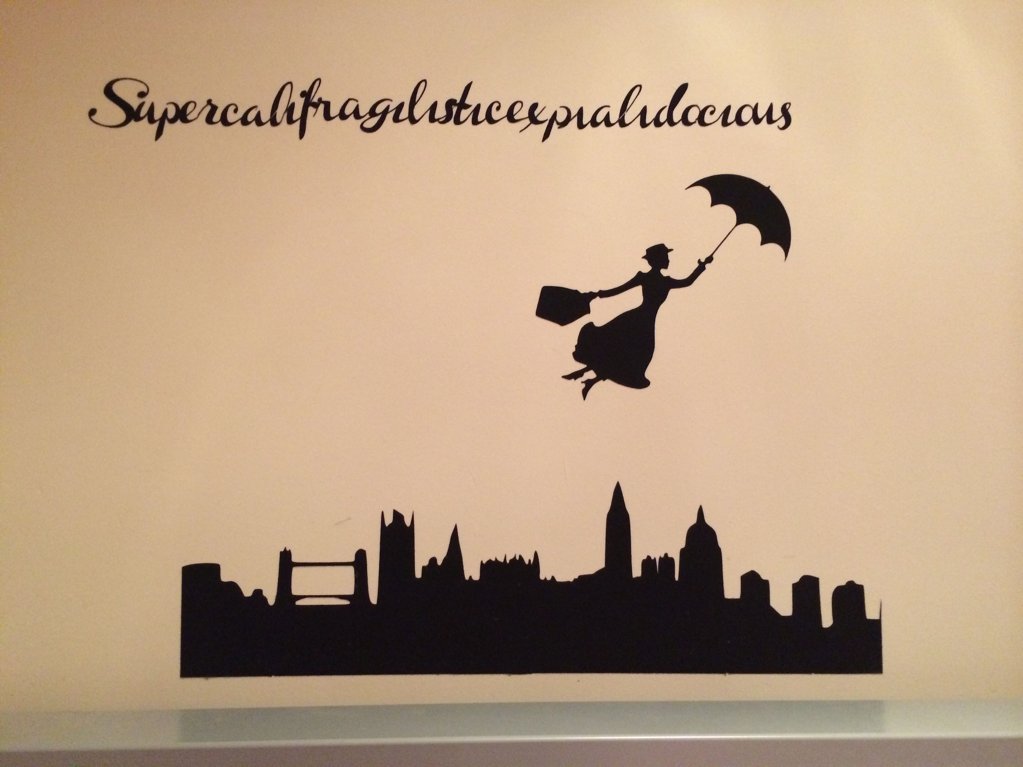 Mary Poppins Wall Art Made With My Silhouette Cameo For Bellas Bedroom