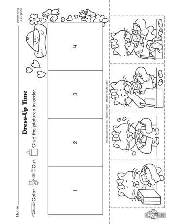 Dress Up Time Lesson Plans The Mailbox Kindergarten Worksheets Math Fact Worksheets Preschool Worksheets Sequencing worksheet for kindergarten