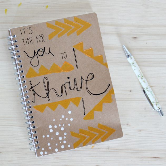 Journal thrive purduereslife actually a really cute idea diy notebook cover design need a notebook to write down all your dreams and wishes make this positive and inspiring design yourself with this super easy solutioingenieria Choice Image