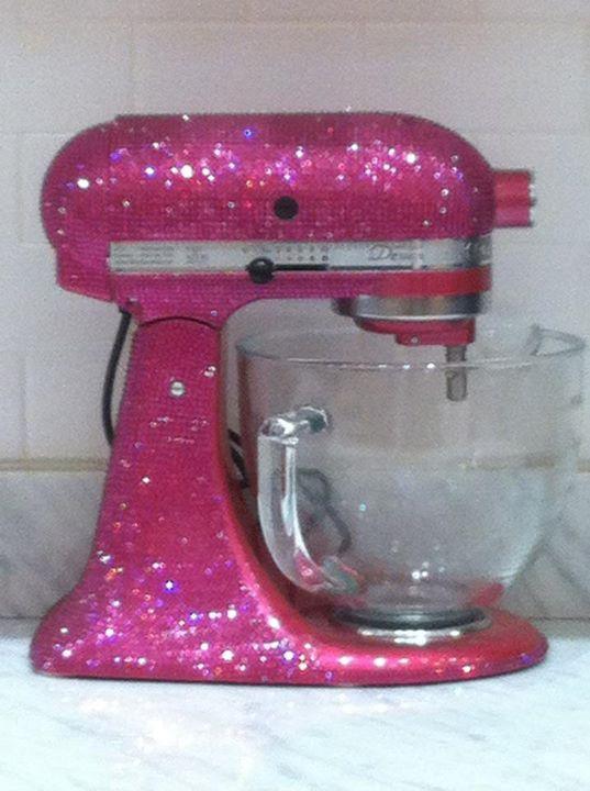 Hot Pink Swarovski Crystal Covered Kitchenaid