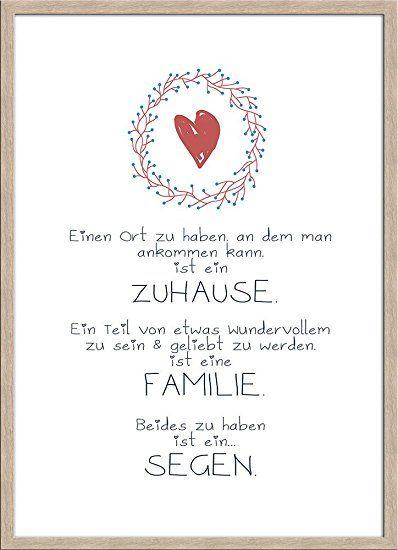 artissimo, Spruch-Bild gerahmt, 51x71cm, PE5996-ER, Zuhause/Familie - glasbilder für küche