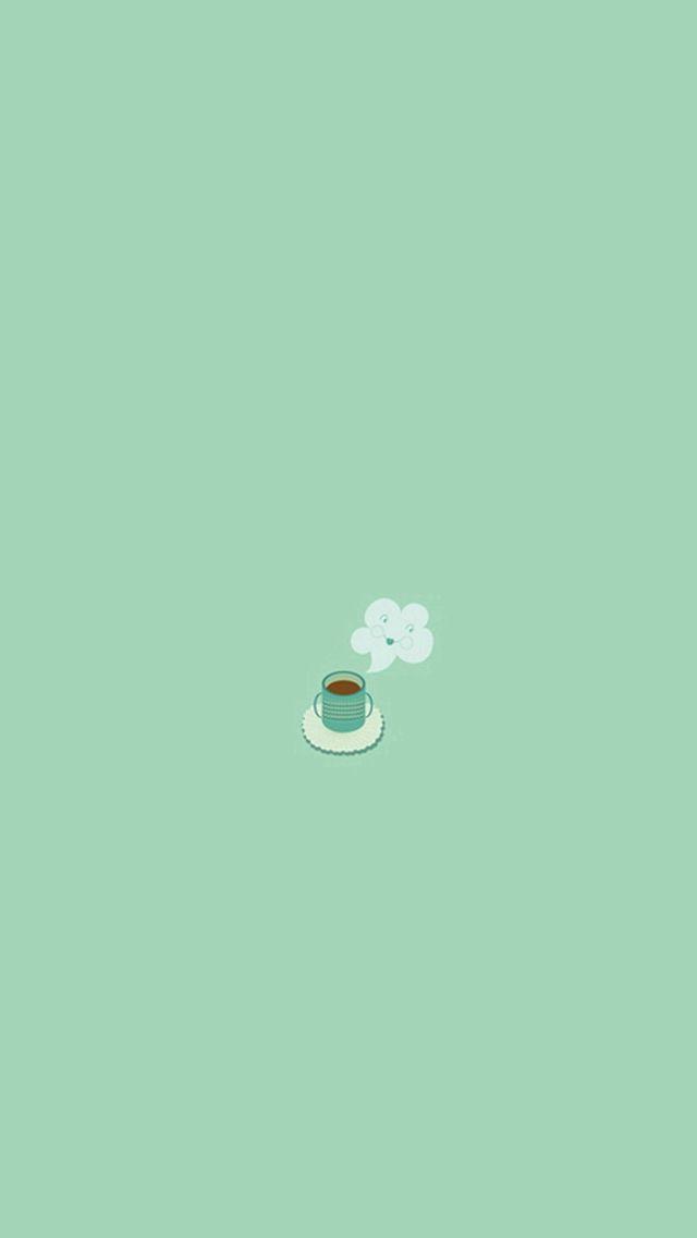 Simple Coffee Mug Flat Illustration Iphone 5s Wallpaper Mint Green Wallpaper Iphone Mint Green Wallpaper Iphone Wallpaper Images