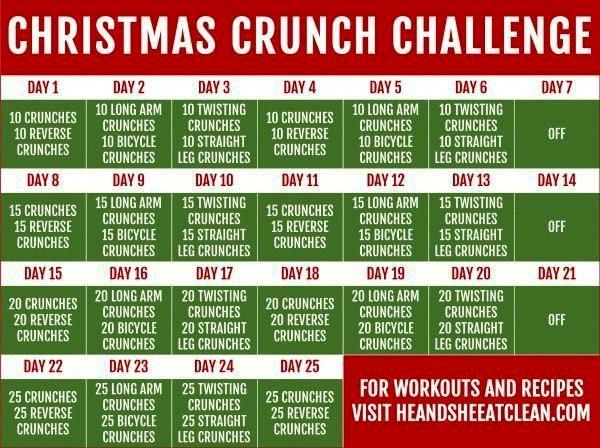 #absworkoutgymmotivation #heandsheeatclean #christmas #challenge #holiday #workout #fitness #crunch...
