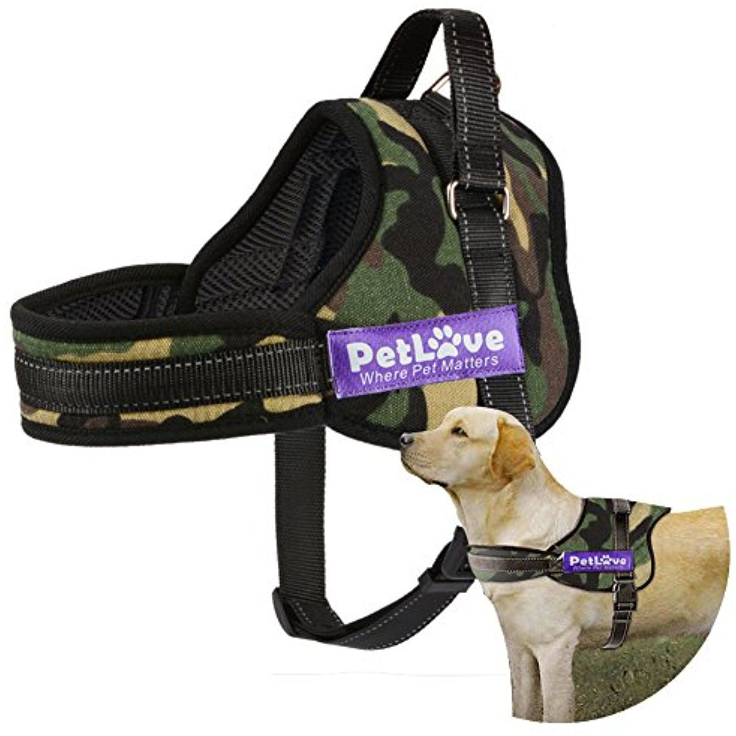 Dog Harness Petlove Soft Leash Padded No Pull Dog Harness With