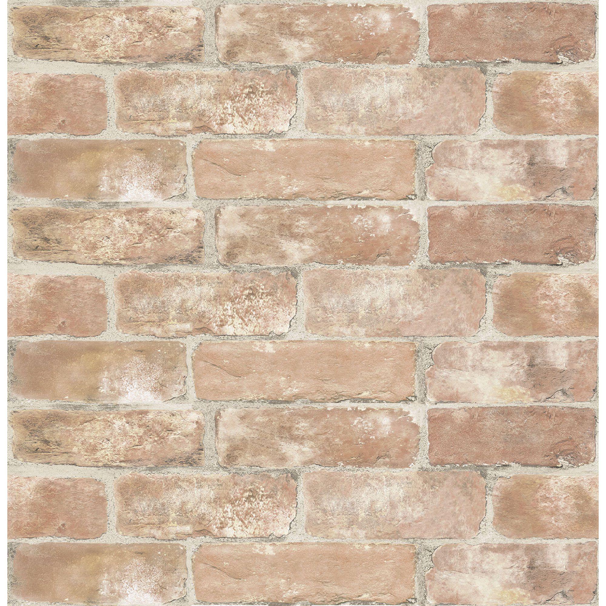 Inhome Old Town Brick Peel Stick Wallpaper Walmart Com In 2020 Peel And Stick Wallpaper Brick Wallpaper Red Brick Wallpaper