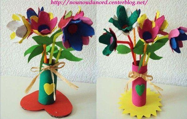 Bouquet de fleurs avec boîte à oeufs *2010*