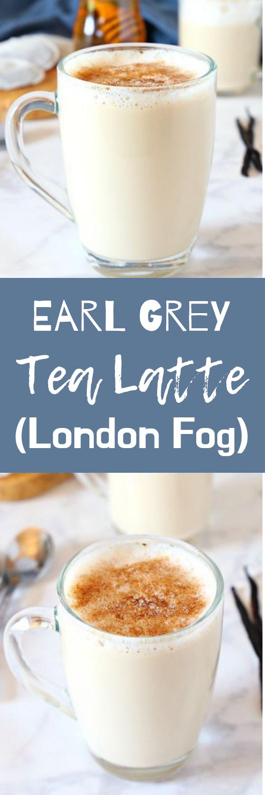 Earl Grey Vanilla Tea Latte (London Fog) #winter #drinks