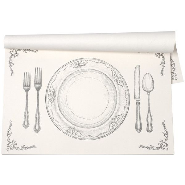 Kitchen Papers Perfect Setting Placemats   30 Sheets ($30) ❤ Liked On  Polyvore Featuring