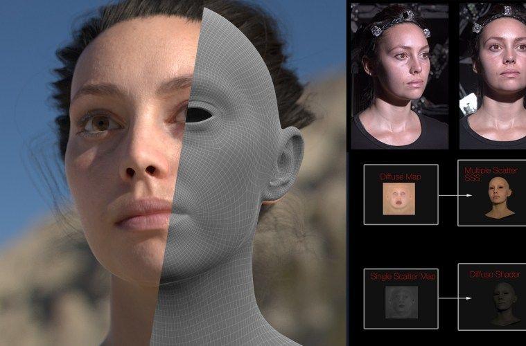Download free human head model + texture map
