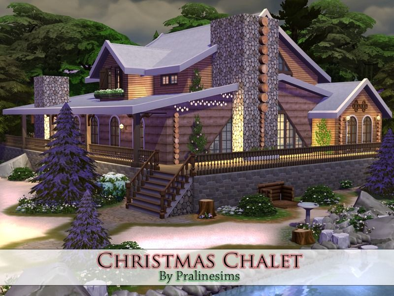This is a cozy and beautiful chalet  for your simmies!  Found in TSR Category 'Sims 4 Residential Lots'