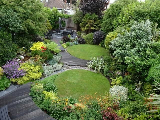 Just A Bit Ambitious Small Garden Design Small Gardens Lawn